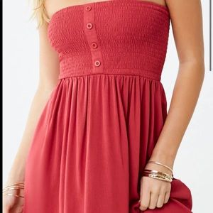 Forever 21 Smocked tube dress